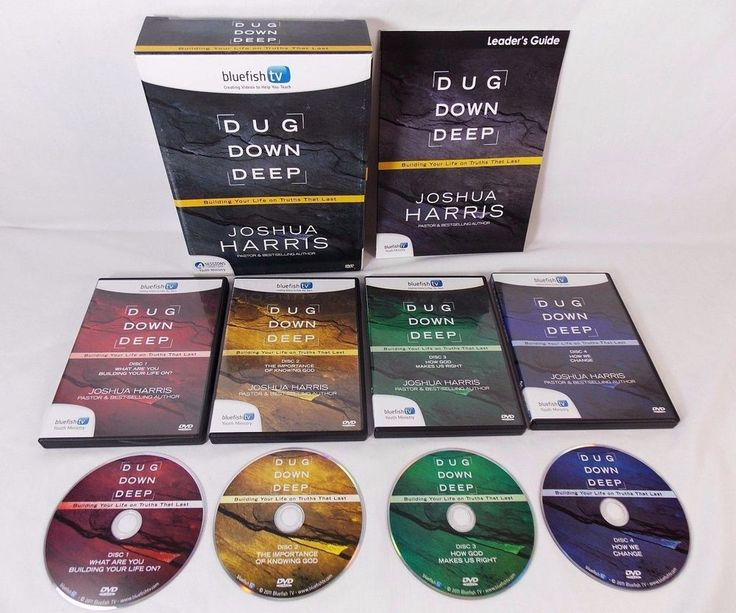 Bluefish TV Dug Down Deep Youth Kit Joshua Harris 4 DVD Set & Leader Guide  #BluefishTV