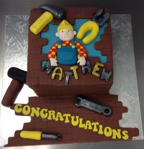 Congratulations to a Newly Qualified Builder Cake decorated by Coast Cakes Ltd