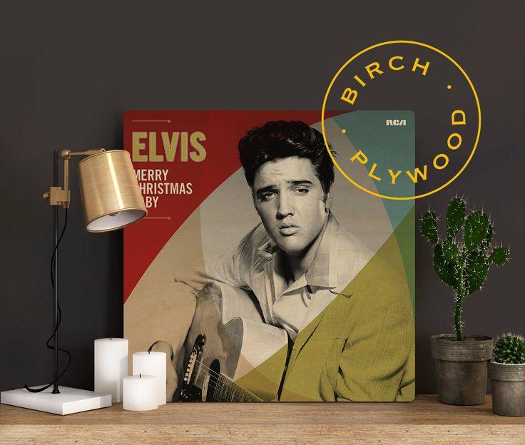 ELVIS PRESLEY: Merry Christmas Baby - Album Art on Wood, Graceland, White Christmas, Album Cover Art, Music Poster, Music Art Print by InHousePrinting on Etsy
