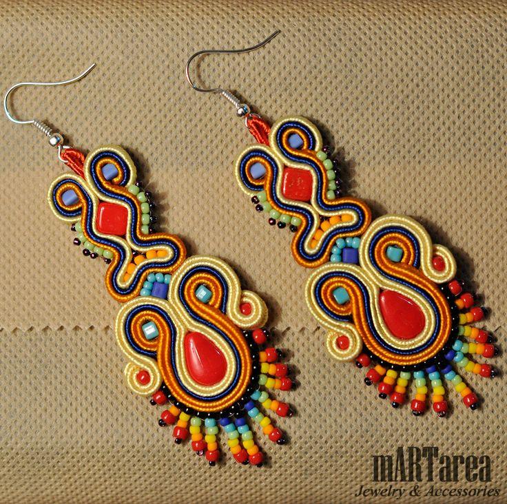 Earrings soutache
