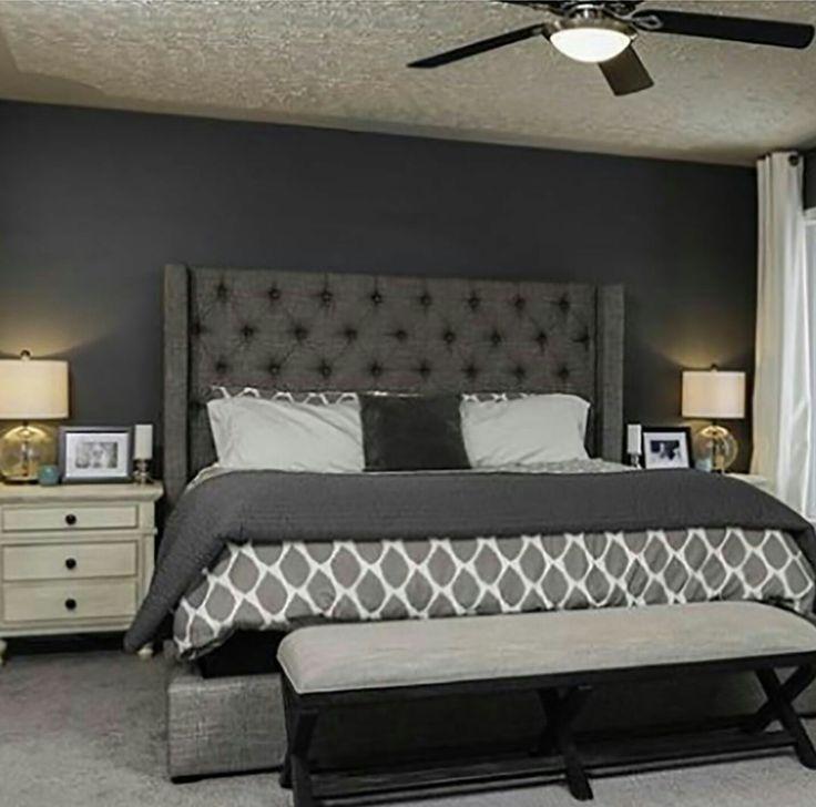 32 Best Grey Upholstered Bed Images On Pinterest Master