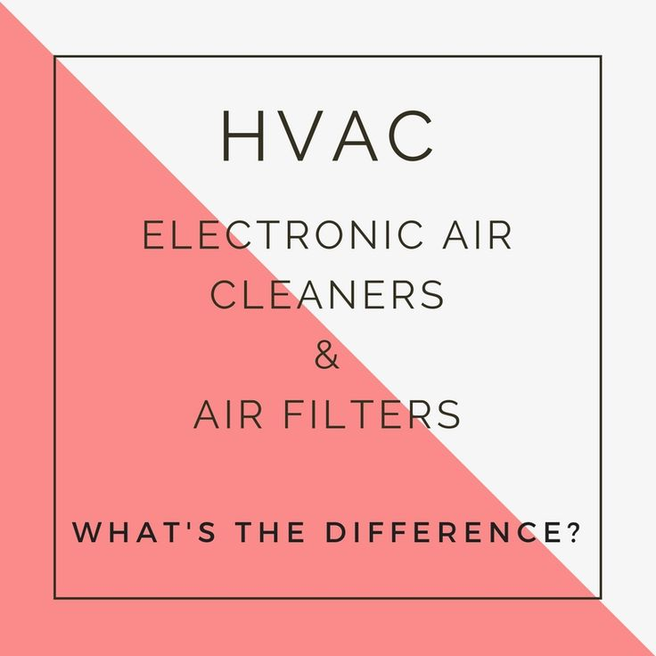 ELECTRONIC AIR CLEANERS AND HVAC AIR FILTERS- WHAT'S THE DIFFERENCE?