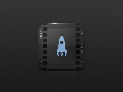 iPad iOS app icon design mobile movie recording