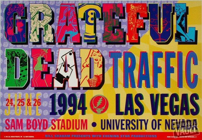 Grateful Dead concert poster, 6-26-94