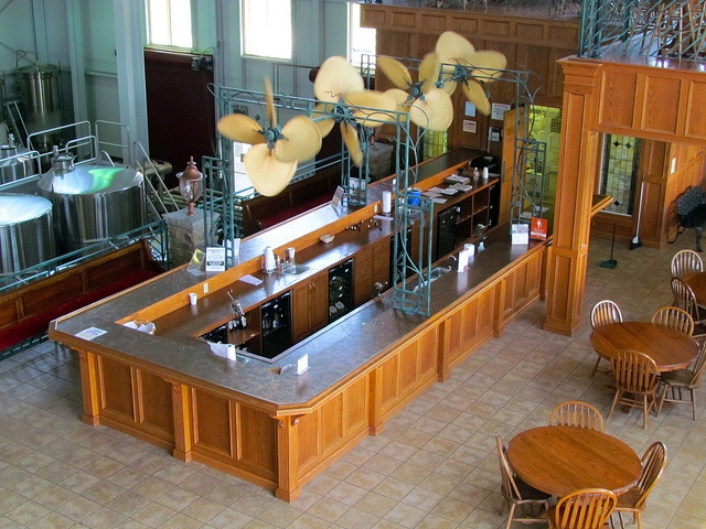 One of the tasting bars at Crown Valley Winery in Ste. Genevieve, MO