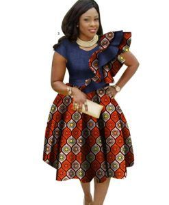 c275b1f3a8fc Ankara African Big Size Traditional Dresses for Women 2018 Dashiki Elegant  Bohemian Beach Dress Vestido Sexy African Clothes