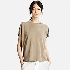 WOMEN Drape Short Sleeve T-Shirt