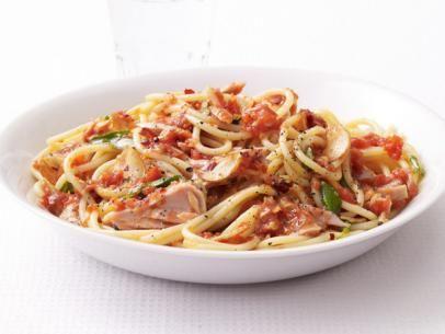 Spaghetti With Spicy Tuna Marinara Sauce Recipe : Food Network Kitchen : Food Network