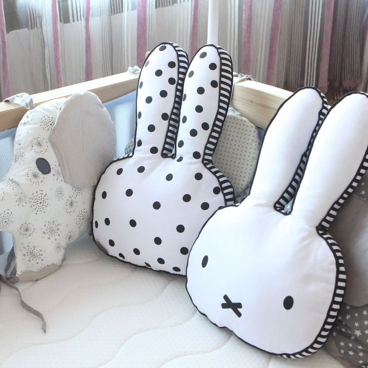 Baby Rabbit Pillow ,Kids Sleep Cushion Pillows ,Baby Room Decoration Infant Bunny Pillow, Boys Girls Photoprops Christmas Gift