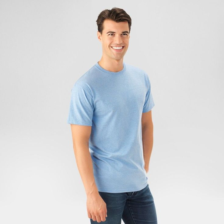 Fruit of the Loom Men's T-Shirt - Light Blue Xxl