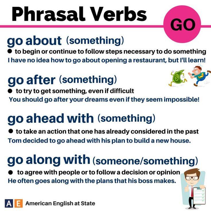 GO phrasal verbs #LearnEnglish
