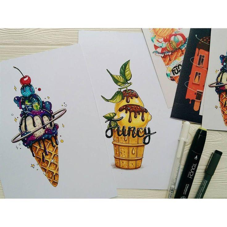 Новые иллюстрашки для нашего круто проекта @thisisfuncy Вот почему так всегда, есть очень много важных дел, срочная работа, весь день пытаешься что-то придумать, но ничего не выходит но зато лимоны, получились за 5 мин. Не знаю почему лимоны-мороженое, не спрашивайте #art_nika #thisisfuncy #funcyart