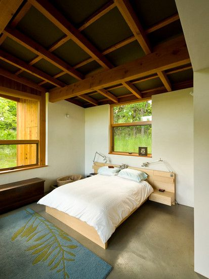 House For Two Artists, Contemporary Bedroom, Portland