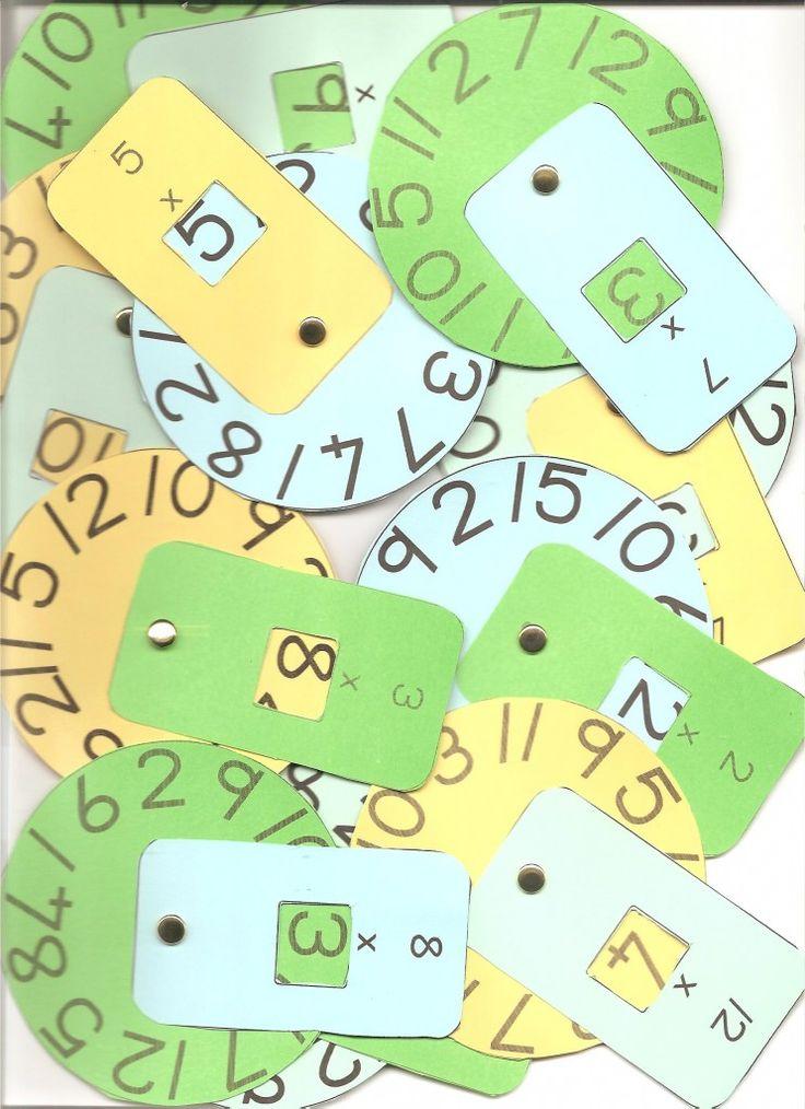 Ruedas con multiplicaciones y divisiones - Aprendiendo matemáticas