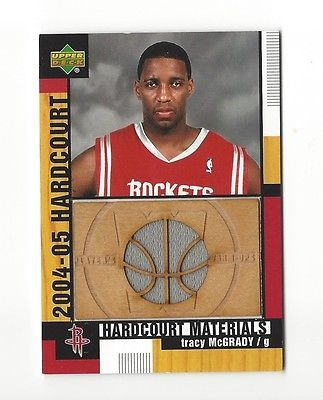 2004-05 UD HARDCOURT TRACY McGRADY FLOOR/ WARM-UPS #HCM-TM HOUSTON ROCKETS