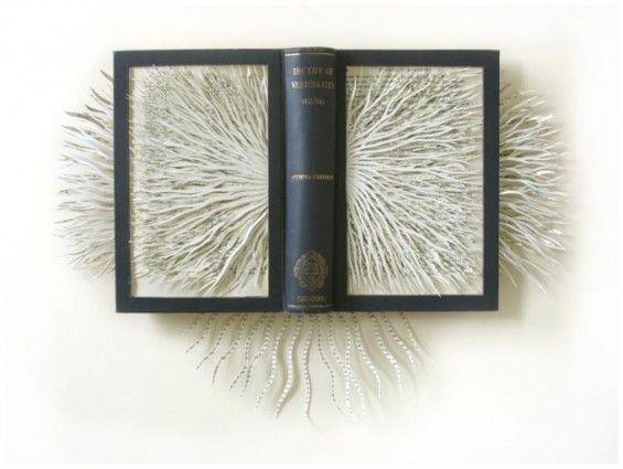Barbara Wildenboer Transforms Books Into Sea-Like Organisms