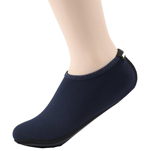 Wowfoot Water Shoes For Women Mens Aquatic Socks Flexible Fitness Pool 4 XLW95105 M8595 Navy -- Check out this great product by click affiliate link Amazon.com
