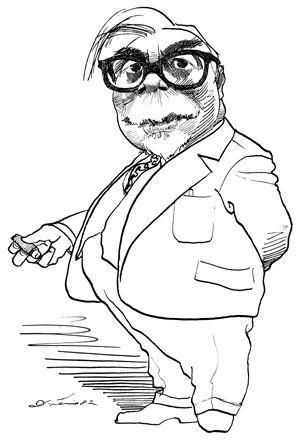 Norbert Wiener (cartoon by David Levine)