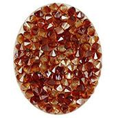 OVAL RED MAGMA CRYSTAL EMBELLISHMENT  www.mycharminglockets.ca  #SHD #southhilldesigns @byjanehedges