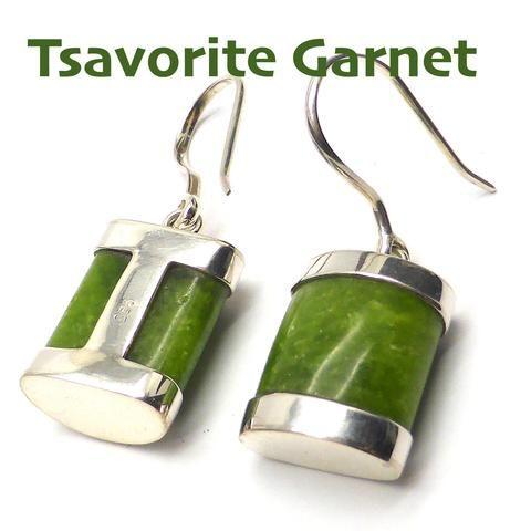 Tsavorite Green Garnet Earrings | 925 Sterling Silver | Heart Healer | Crystal Heart Melbourne Australia since 1986