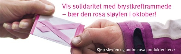 Støtt rosa sløyfe!