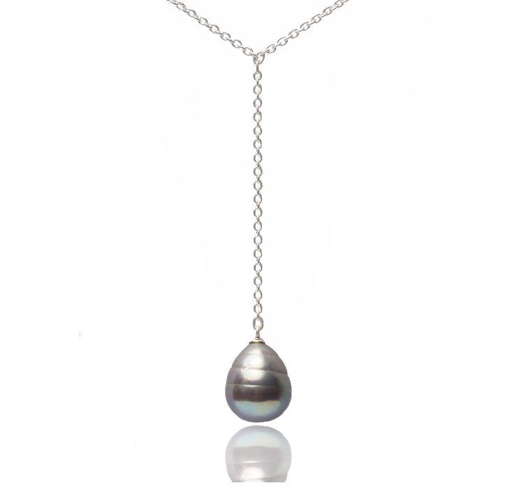 Collier Océanide en perle de Majorque et argent 925 : Collier par auclealie