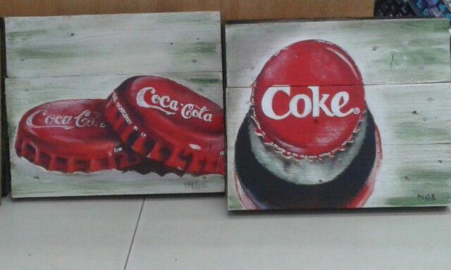 Coke - Acrylic on wood