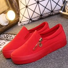 Бесплатная доставка 2015 мода весна осень твердые холст женщины спорт работает на платформе кроссовки красный черный высокого верха обуви 36 - 40(China (Mainland))