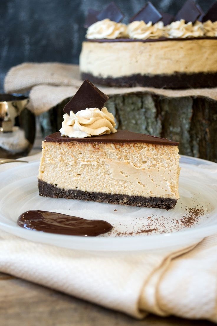 Espresso cheesecake made with Hood Cream