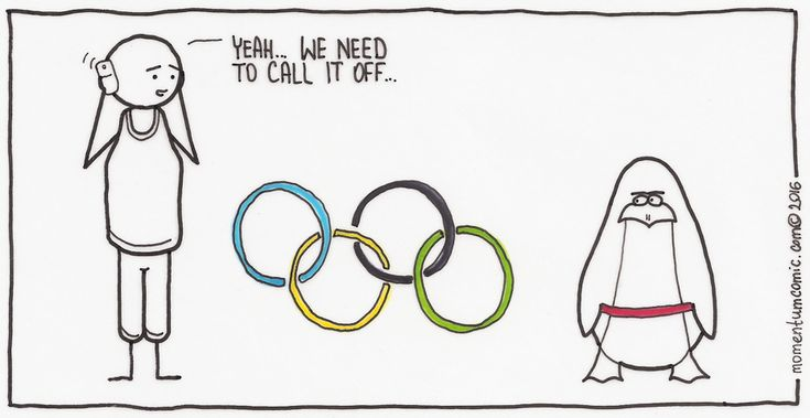 I heard there were some issues with the organisation... Rio Olympics. Sport. Penguin.