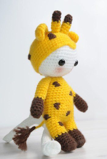 Amigurumi doll in giraffe costume - FREE crochet pattern