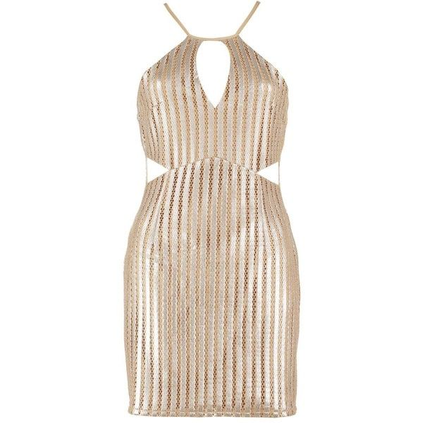 Boohoo Petite Alex Metallic Keyhole Detail Bodycon Dress | Boohoo ($26) ❤ liked on Polyvore featuring dresses, petite dresses, metallic bodycon dress, metallic dress, body con dress and pink metallic dress