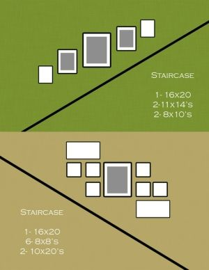 Picture display ideas for Stairs