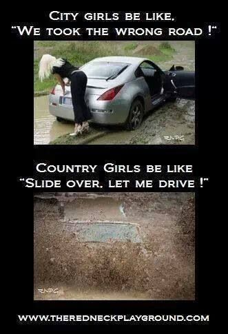 True story... even with the boys, I end up driving us out if we get stuck. My big brother taught me well ;)