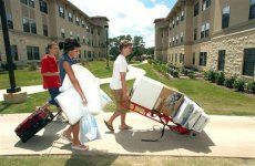 college dorm rooms... what to bring and what to leave at home, also cool care package ideas