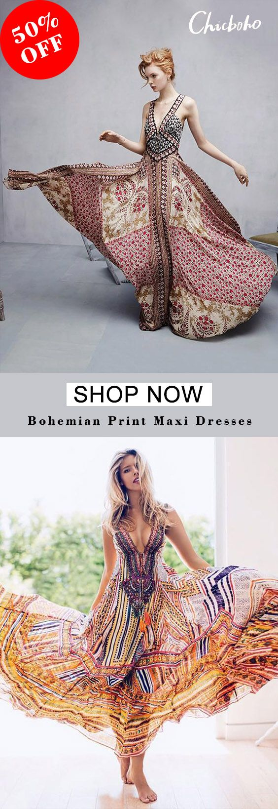 ??50%OFF, new arrival bohemian printing maxi dress. Hight quality and affo... 7