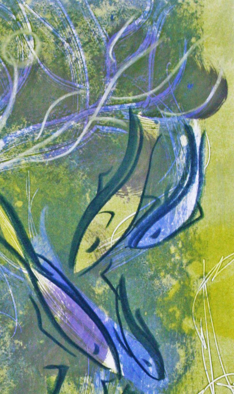 Fish in gorgonia print
