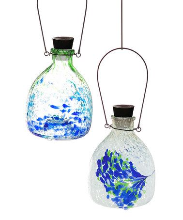 Another great find on #zulily! Blue & Green Speckle Solar Wasp Catcher - Set of Two #zulilyfinds