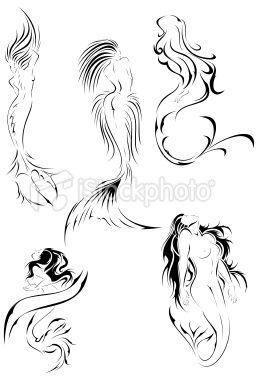 colas de Mermaids para logo 2