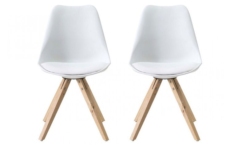 The Bojan white bucket chair is a best seller and comes with a solid, high quality resin based seat with an integrated maintenance free cushion pad. When combined with original solid Oak legs you get a designer piece fit for the modern home.