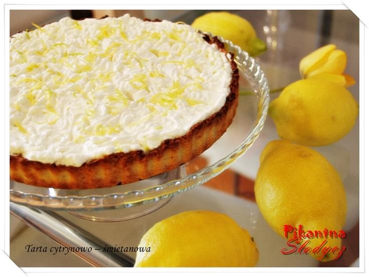 Tarta cytrynowo – śmietanowa http://pikantnaslodycz.blogspot.com/2013/05/tarta-cytrynowo-smietanowa.html