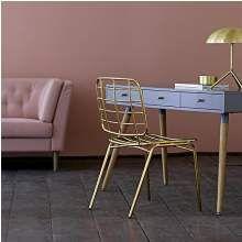 Mesh lounge stol - guld
