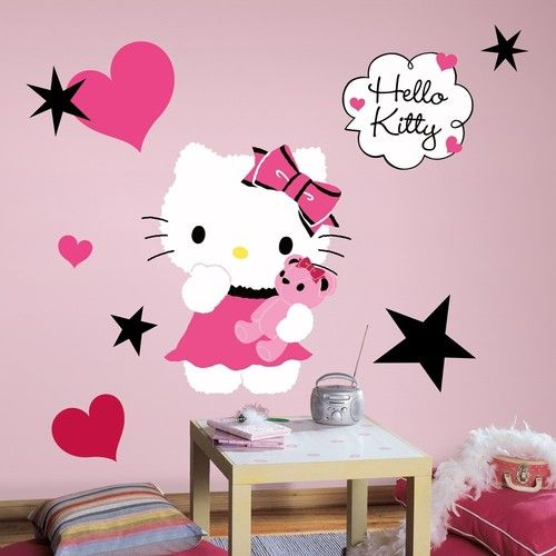 Superb New Large HELLO KITTY COUTURE WALL DECALS Girls Bedroom Stickers Pink Room  Decor Part 4