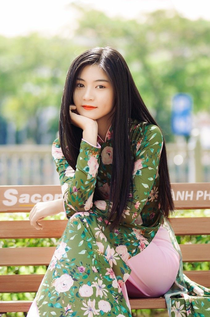 1318 Best Ao Dai, Vietnamese Long Dresses Images On Pinterest  Asian Beauty, Ao Dai And Asian Woman-9773