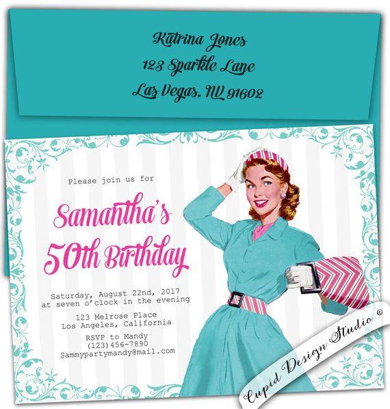 50th Birthday invitation. 60th Birthday invite. by CupidDesigns
