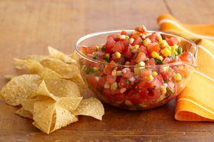 Fresh Corn Salsa recipe: Kraft Recipe, Kraft Food, Cincodemayo, Homemade Recipe, Freshdiprecip Shanonnxc, Savory Recipe, Fresh Corn, Hot Sauces, Corn Salsa Recipe
