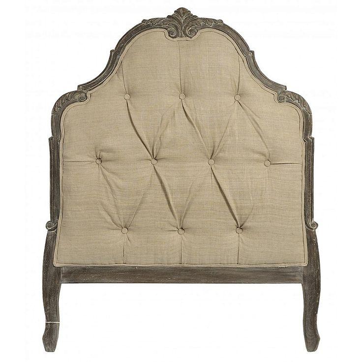 RICHMOND- zagłówek do łóżka tapicerowany styl prowansalski francuski szabby chic