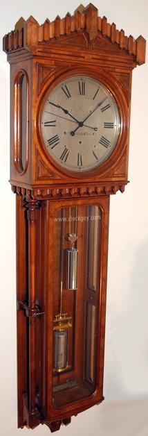 Seth Thomas Fine Regulator No. 10  in Mahogany/Burled Walnut , c.1881: Fine Wall, Fine Regulation, Clocks Tic, Clocks Grandfather, Antique Clocks, Time, Mahogany Burl Walnut, Pendulum Bobs, Grandfather Clocks
