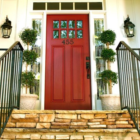White House Red Door Design Ideas Pictures Remodel And Decor