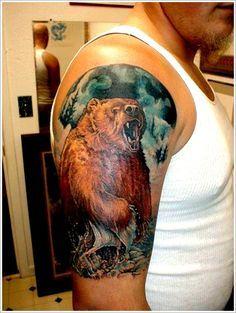 ... Tat on Pinterest | Bear tattoos Bear paw tattoos and Neo traditional